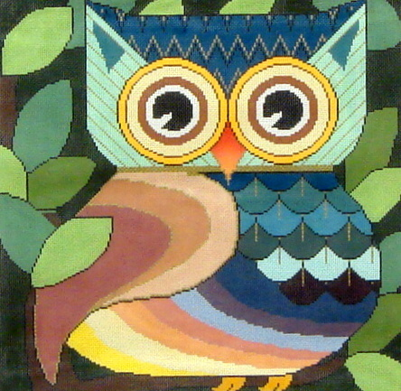 Who Gives a Hoot     (Handpainted by JP Needlepoint) 18*DDB-002
