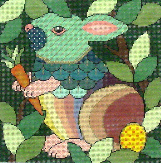 Who Gives a Hop     (Handpainted by JP Needlepoint) 18*A-121