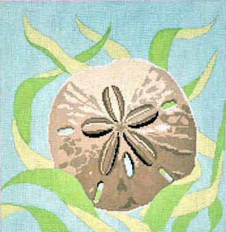 Seaweed & Sandollar    (handpainted  by Susan Roberts) 18*1068