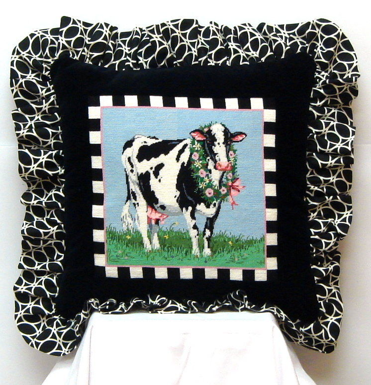 Blossom (Cow) Finished Model Shown (Handpainted by Sandra Gilmore Designs) 18*SG-18*-269