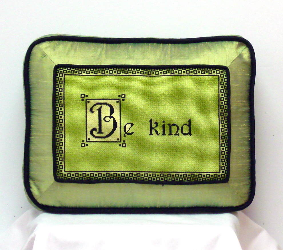 Be Kind  (Model Shown)    (handpainted by All about Stitching) 18*GS2