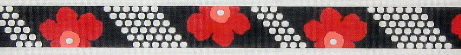 Hipster Belt, Poppy Dot Reversed  (Handpainted by Voila) 18*B700RW