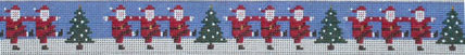 Dancing Santas Belt (Handpainted by Patti Mann)