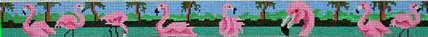 Flamingo Row Belt (Handpainted by HSN Designs) 18*CLB3