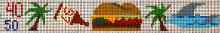 Jimmy Buffet Belt   (handpainted by Julia's needlework) 18*JB264
