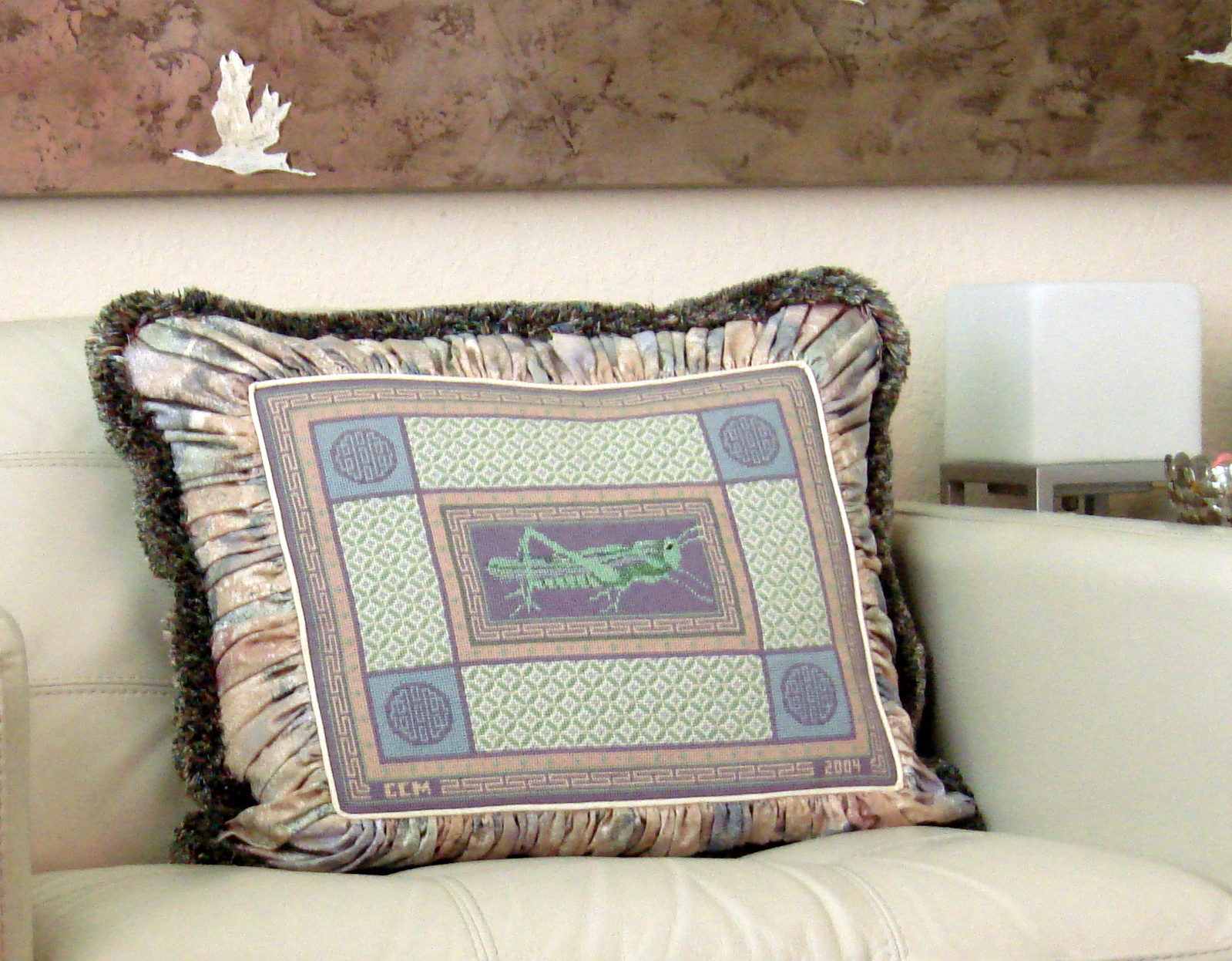 Grasshopper & Coins     (Handpainted by JP Needlepoint)