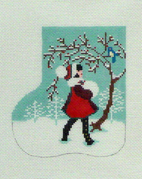 Christmas Friends Mini Sock (Handpainted by Shelly Tribbey Designs) 18*C993