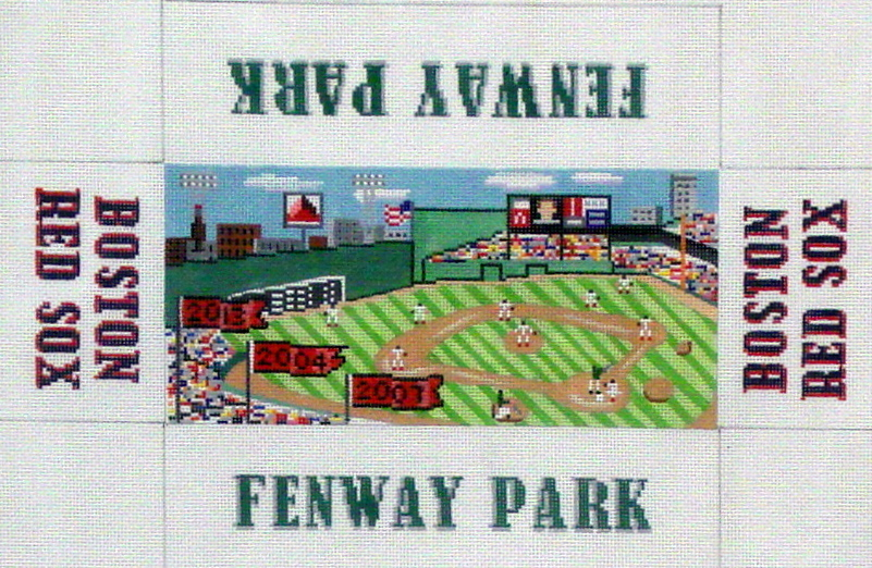 Fenway Park/Red Sox     (handpainted  from the Wellesley Needlepoint Collection) 18*M51