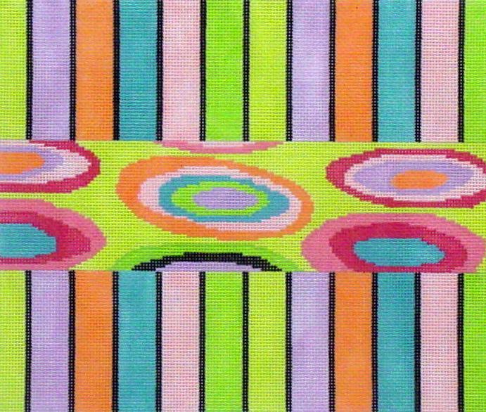 Color Oval   (Handpainted by Voila C'est Fini) 18*BAG809
