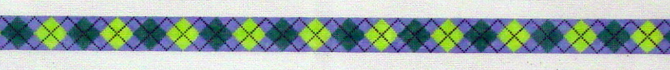 Argyle - Periwinkle Background Belt (Handpainted by Meredith Collection) 18*122H