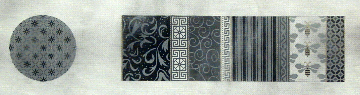 Treasure Box, Gray & White Patchwork and Bees    (JP Designs) *TP-35