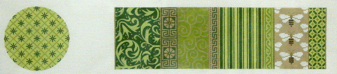 Treasure Box,  Green Patchwork with Bees   (JP Designs) *TP-034