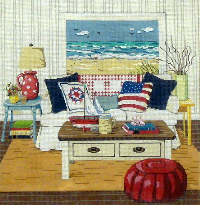 At The Seashore  (handpainted by Sandra Gilmore) *18-947