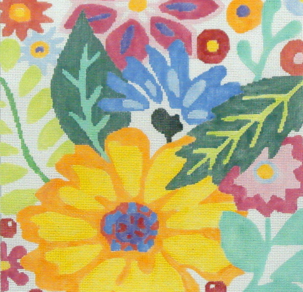 Large Floral Fiesta #2  (handpainted by Jean Smith) 18*B-172