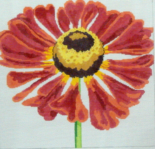 Button Flower     (handpainted by Jean Smith) 18*139C-32
