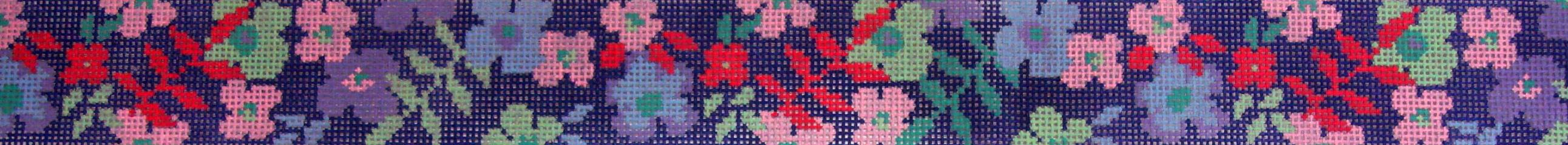 Blue Garden Belt (Handpainted by Voila)