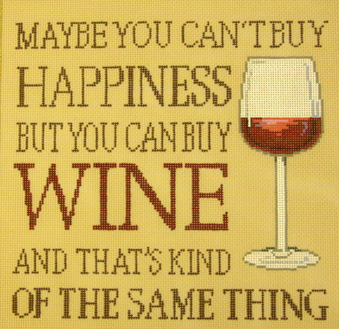 Buy Wine…. (Handpainted by Sandra Gilmore Designs) 18*18-936