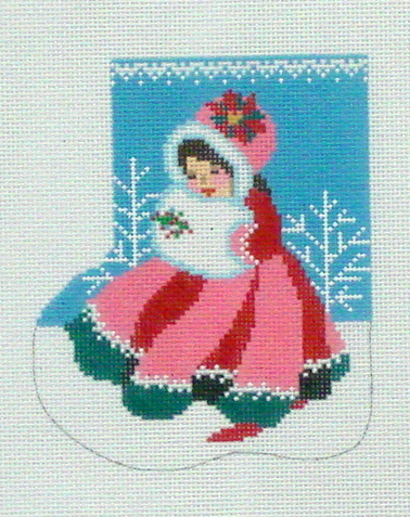 Mary Christmas Mini Sock (Handpainted by Shelly Tribbey Designs) 18*C651