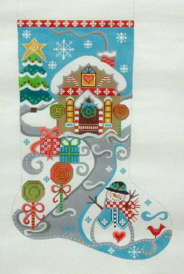 Lollipop Stocking    (Handpainted by Danji Designs) 18*CH-54