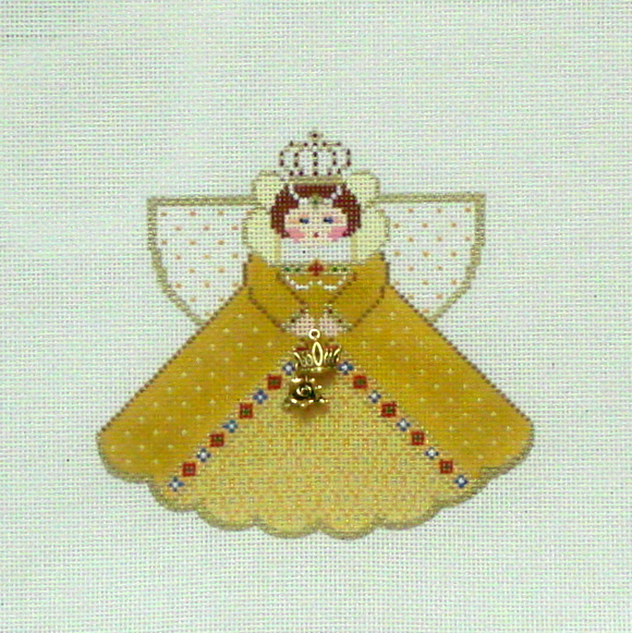 Gold Queen (Angel with charms) (Painted PonyDesigns) 18*996GQ