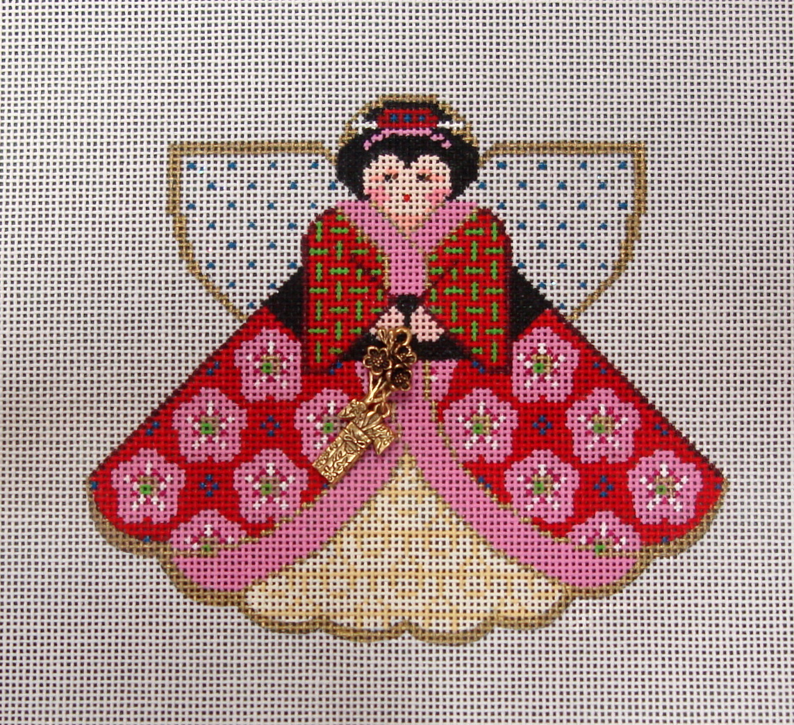 Geisha Girl (Angel with charms) (Handpainted by Painted Pony Designs) 18*996GJ