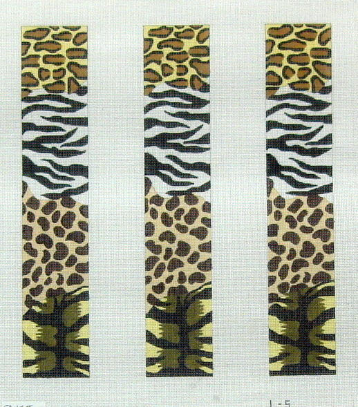 Animal Skins Collage Luggage Straps  (handpainted by Meredith Collection) 18*L-5