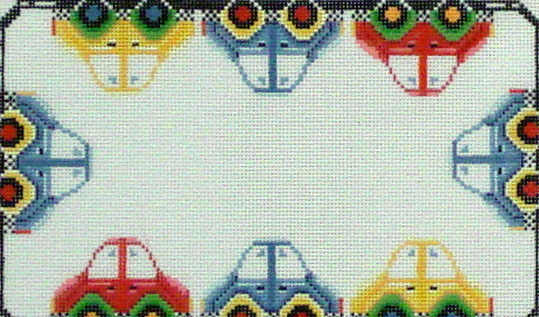 Cars, Name Sampler  (Handpainted by Needledeeva) 18*902-18