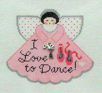I Love to Dance Angel with Charms (Handpainted by Painted Pony Designs) 18*699BO