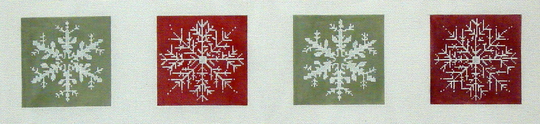 Snowflake Coasters    (Handpainted by CBK Needlepoint Collection) 18*LM-CO 02