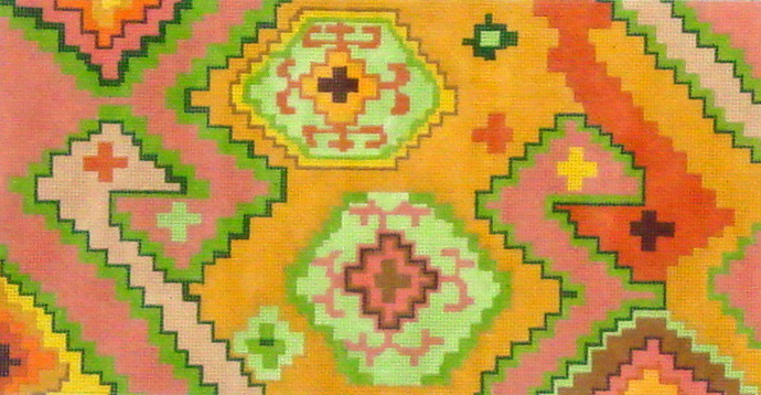 Kilim Rectangle Rectangle w/ Duck Head Motif   (Handpainted by Kate Dickerson) 18*PL-152