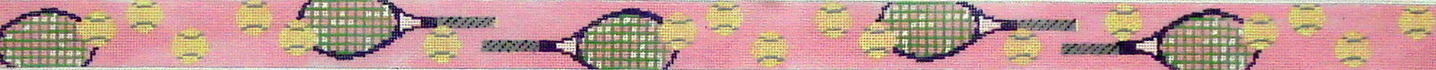 Ladies  Pink Tennis Belt (Handpainted by Walker Street Designs) 18*B281