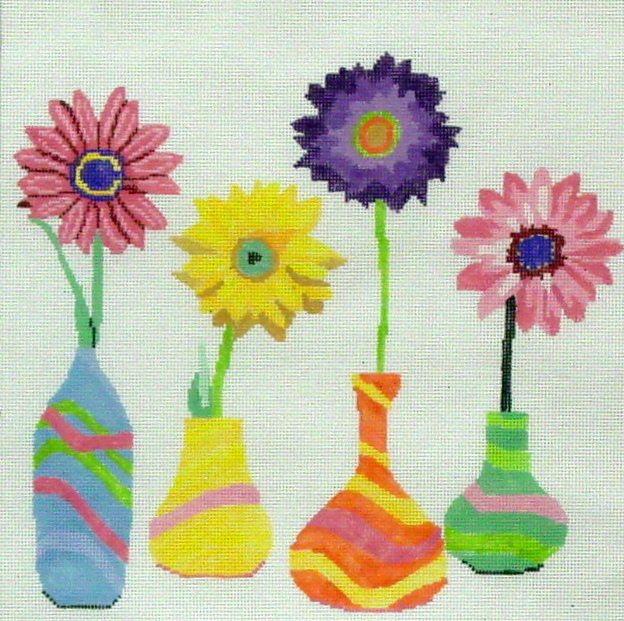 Floral Friends #1     (handpainted by Jean Smith) 18*118A