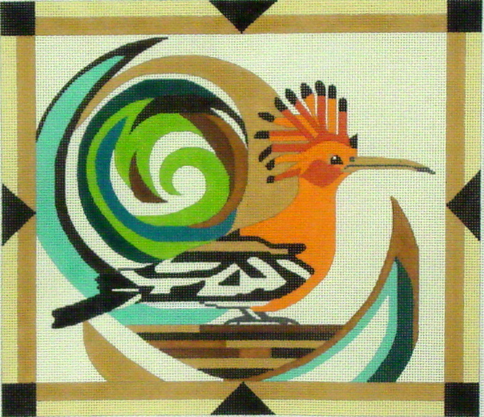 African Hoopoe Bird    (Hand Painted by Melissa Prince Designs) 18*B331