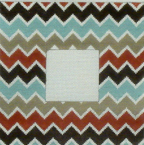 Multi Color Chevron Frame   (handpainted by All About Stitching ??) 18*PF15