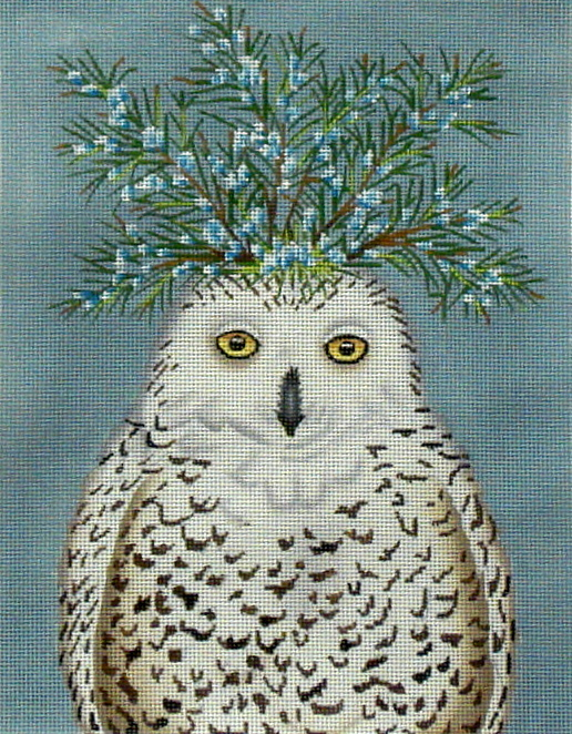Snowy Owl   (Handpainted by Melissa Shirley) 18*VS-114