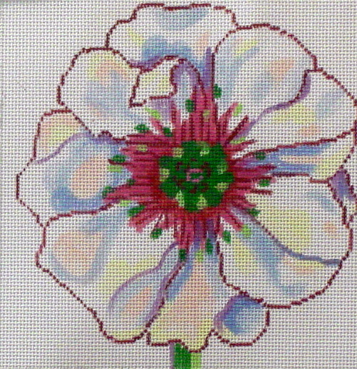 White Poppy               (handpainted by Jean Smith) 18*139B-26