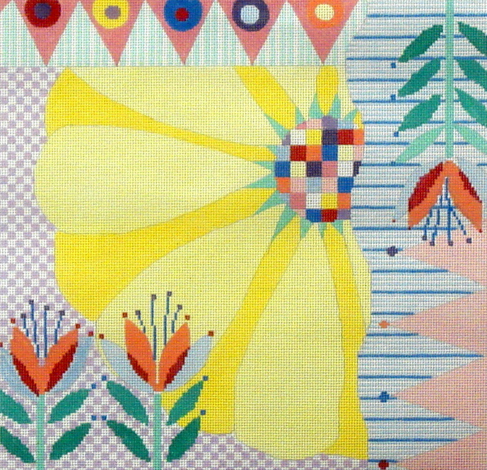 Yellow Floral (Handpainted by Penny MacLeod) 18*35