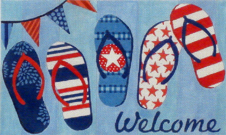 Flip Flops Welcome Sign (Handpainted by Maggie Co.) 18*M-1704