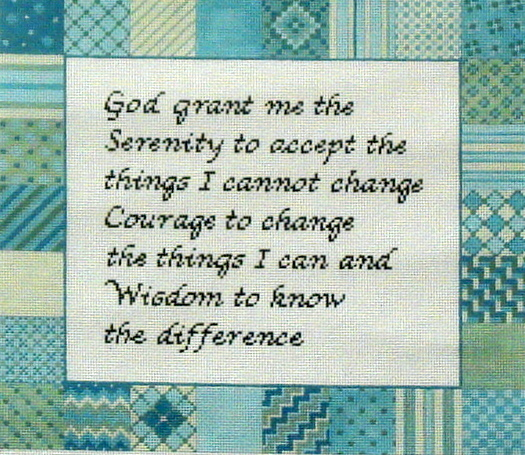Serenity Prayer   (handpainted by Susan Roberts)` 18*1044