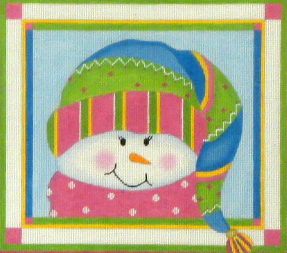 Sparkles Snow Girl w/Stitch Guide (Handpainted by Pepperberry Designs