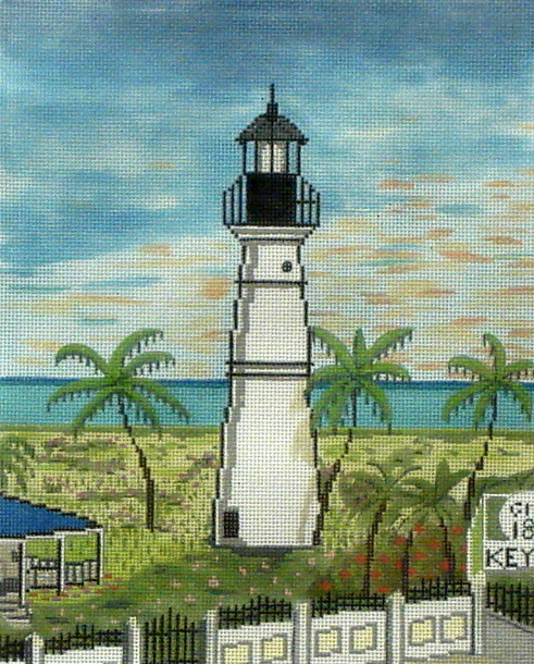 Key West Lighthouse   (Handpainted by Purple Palm Designs) 18*7104