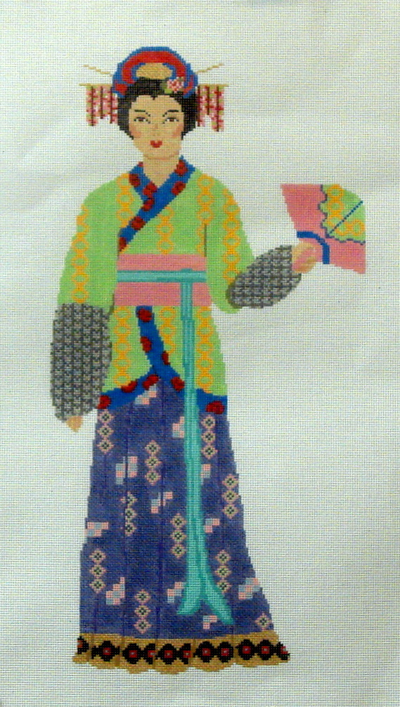 Yuan Dynasty Chinese Woman 000-051-13