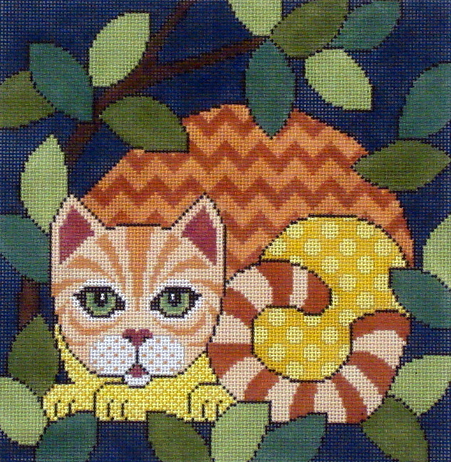 Out Cattin Around/Orange Tabby     (handpainted by JP Designs) 18*A-321