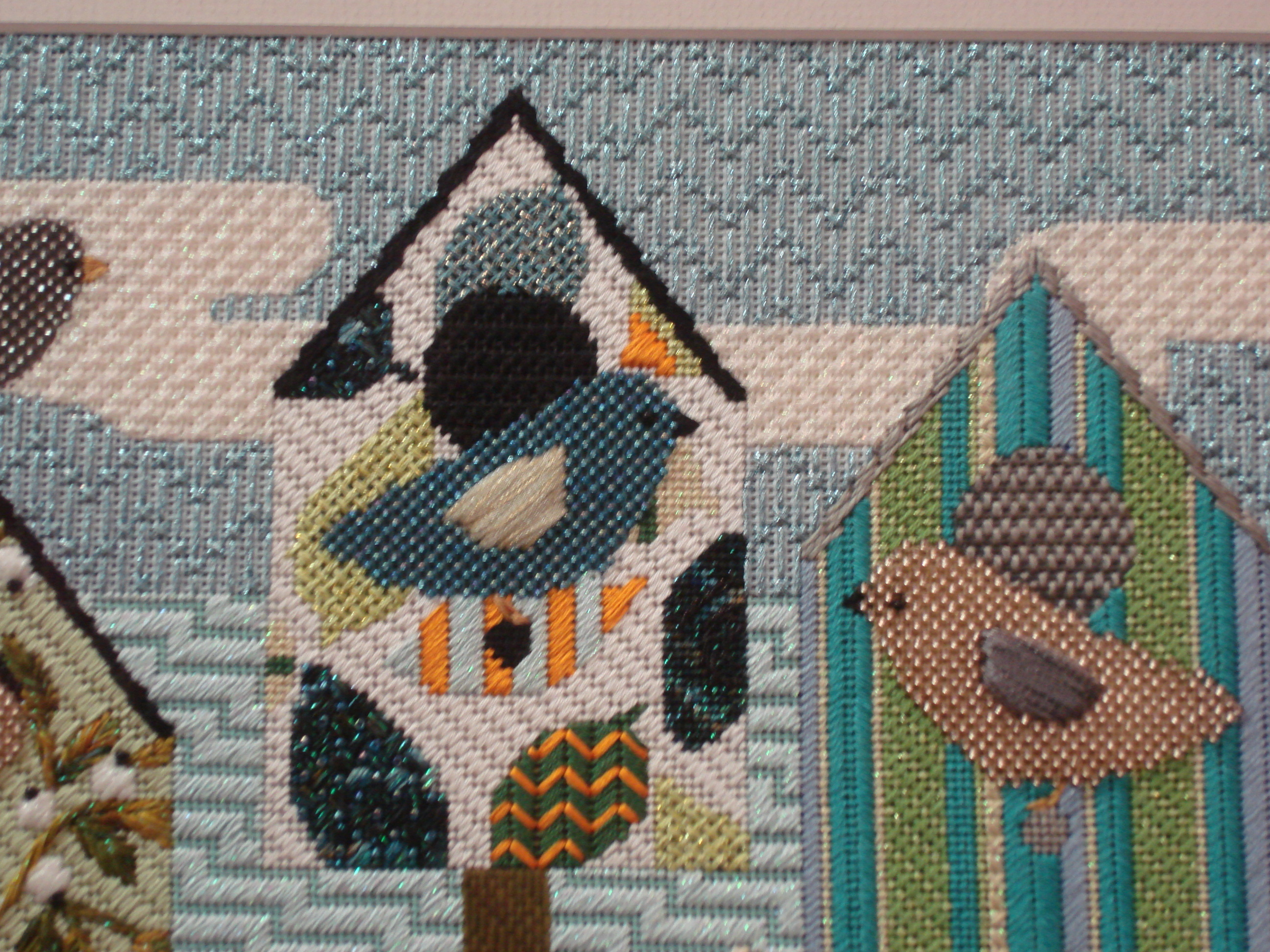 Beach Birds (stitch guide included)    (handpainted by Melissa Shirley)