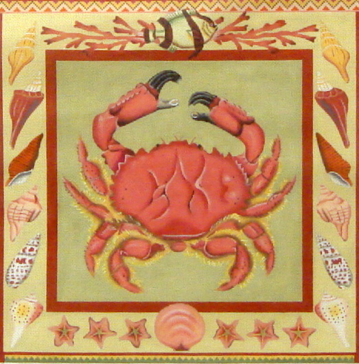 Crab   (handpainted by Melissa Shirley Designs) 18*1861