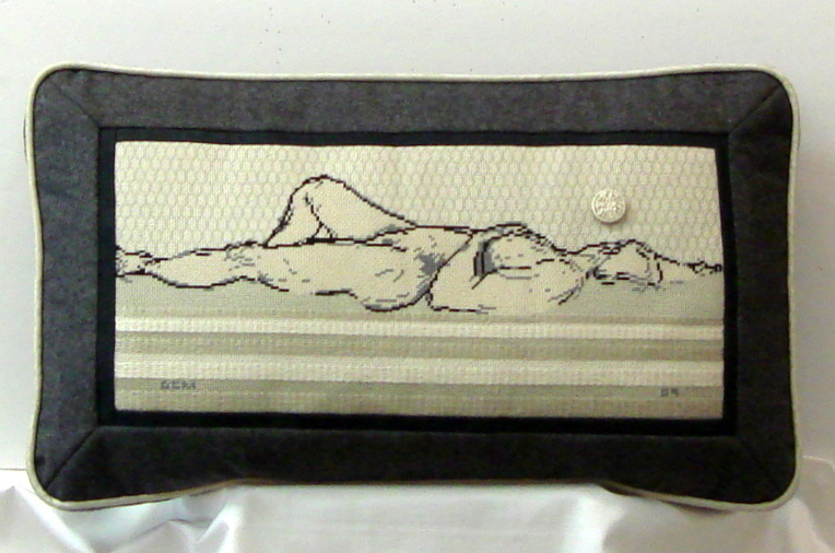 Nude Reclining, Peas on Earth Designs, (Model Shown)