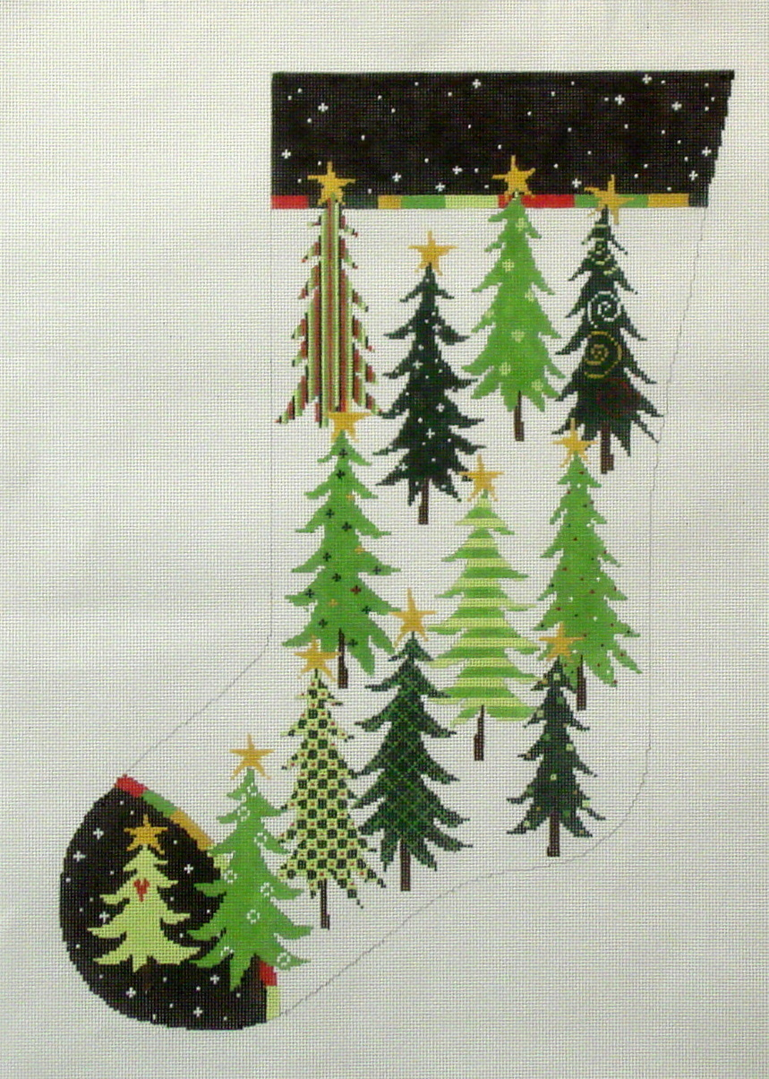 Tree Stocking  (handpainted from Pippin Studio) 18*P-CH-004