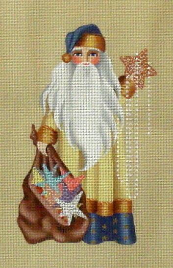 Seeing Stars Santa      (Handpainted by Leigh Designs) 18*8351