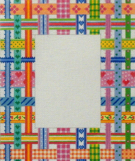 Ribbon Frame  (Handpainted by Kate Dickerson Needlepoint Collection)