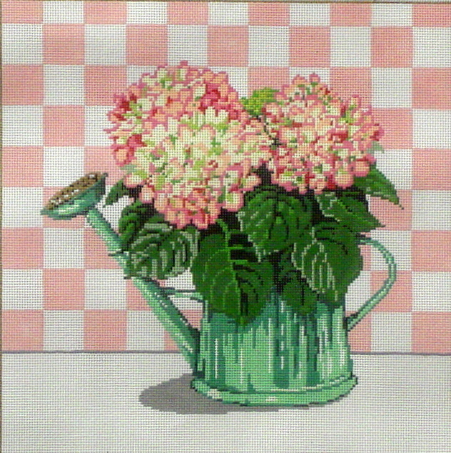 Hydrangea   (Handpainted by Sandra Gilmore Designs) 18*18-605